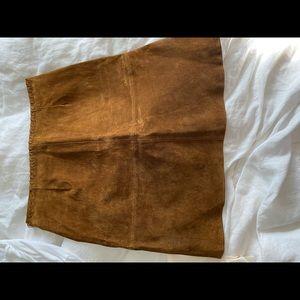 Zara suede high waisted mini skirt